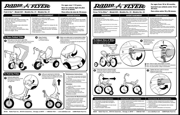 radio flyer tricycle user manual
