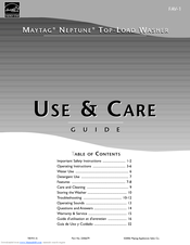 maytag neptune tl owners manual